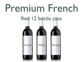 French Premium Red 12 Bottle Case