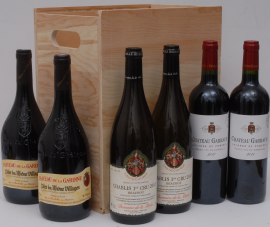 Sélection Traditionnelle 6 Bottle Wooden Case
