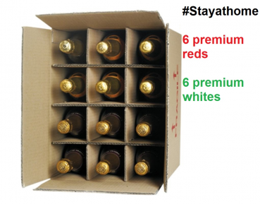 Mix 12 Premium Red & Whites #StayAtHome Case