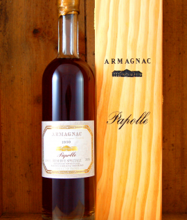 1950 Armagnac Vintage Domaine Papolle in wooden box